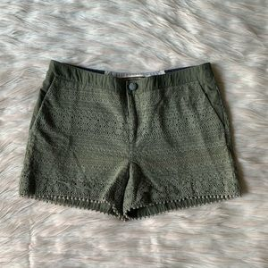 Anthro Daughters of the Liberation Crochet Shorts